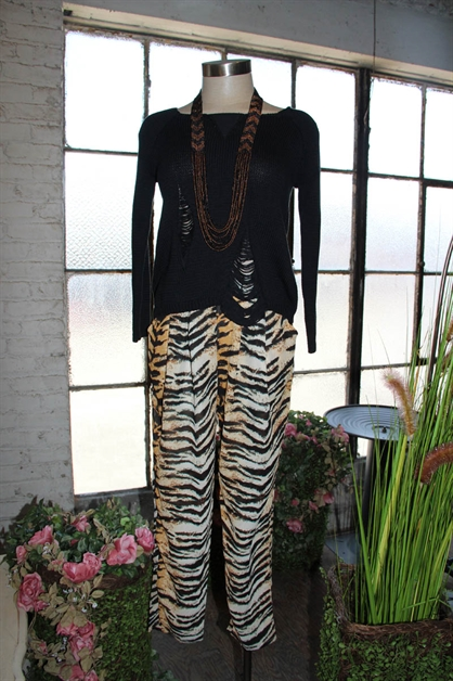 ANIMAL PRINT PANTS - orangeshine.com