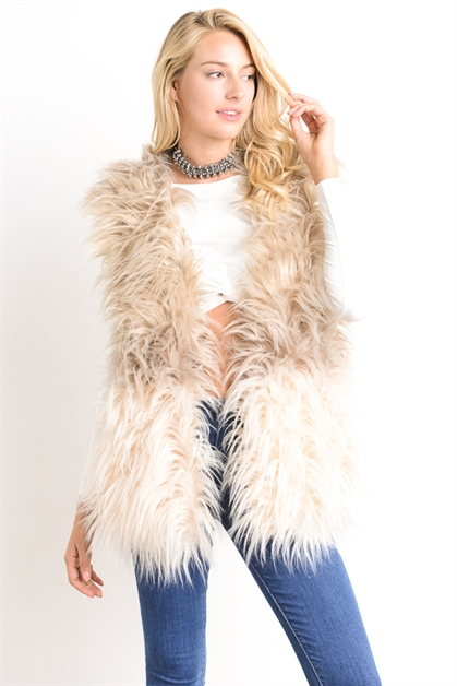 OMBRE TWO TONE FAUX VEST - orangeshine.com