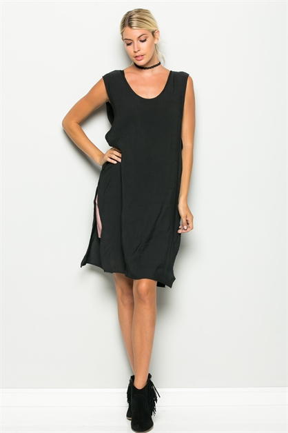 SIDE OPEN TUNIC TANK - orangeshine.com