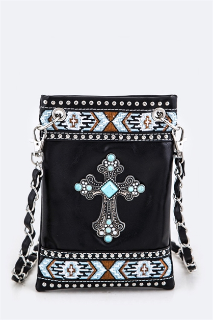 Turquoise Cross Swing Bag - orangeshine.com