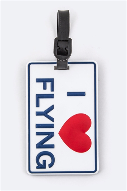 I LOVE FLYING Luggage Tag - orangeshine.com