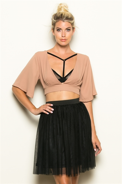 TIE WAIST CROP TOP - orangeshine.com