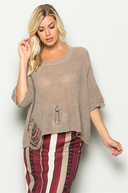 DROOPY BOARD KNIT TOP - orangeshine.com