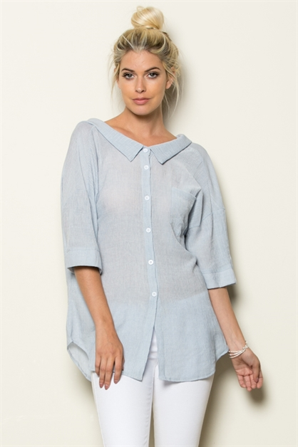BUTTON DOWN OVER SIZE TUNIC - orangeshine.com