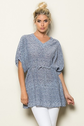 OVER SIZE STRIPE TUNIC TOP - orangeshine.com