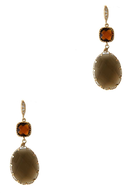 SEMI PRECIOUS DANGLE EARRING - orangeshine.com