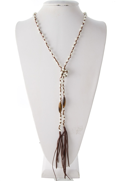 PEARL KNOT WRAPPING NECKLACE - orangeshine.com