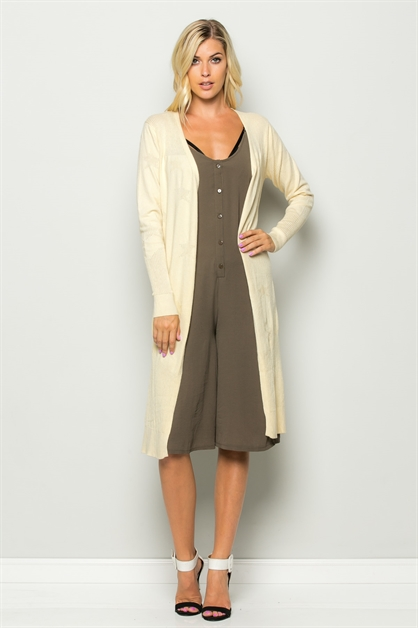 EXPOSED LONG SLV CARDIGAN - orangeshine.com