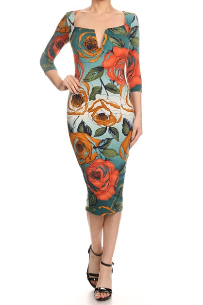 PRINT DRESS - orangeshine.com