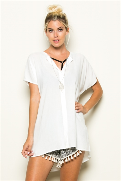 OPEN V-NECK TUNIC - orangeshine.com