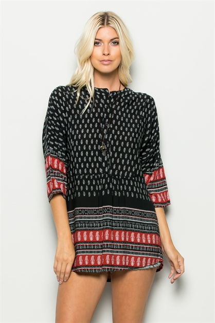 PRINT TUNIC TOP - orangeshine.com