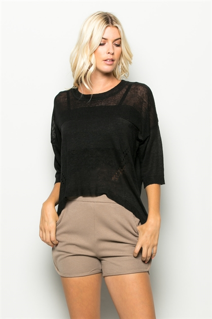 SUMMER WEIGHT KNIT TOP - orangeshine.com