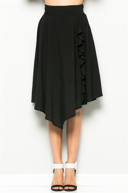 SIDE FRILL SKIRT - orangeshine.com
