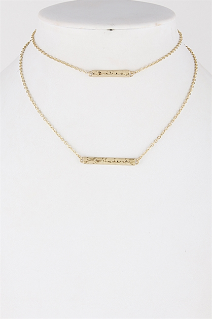 Double Bar Choker Necklace - orangeshine.com