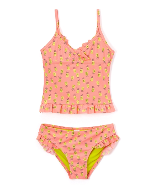 Coral Pineapple Tankini Set - orangeshine.com