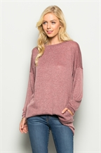 Two Toned Long Sleeve Top - orangeshine.com