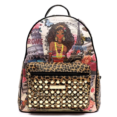 NX Fashion Studded Backpack - orangeshine.com