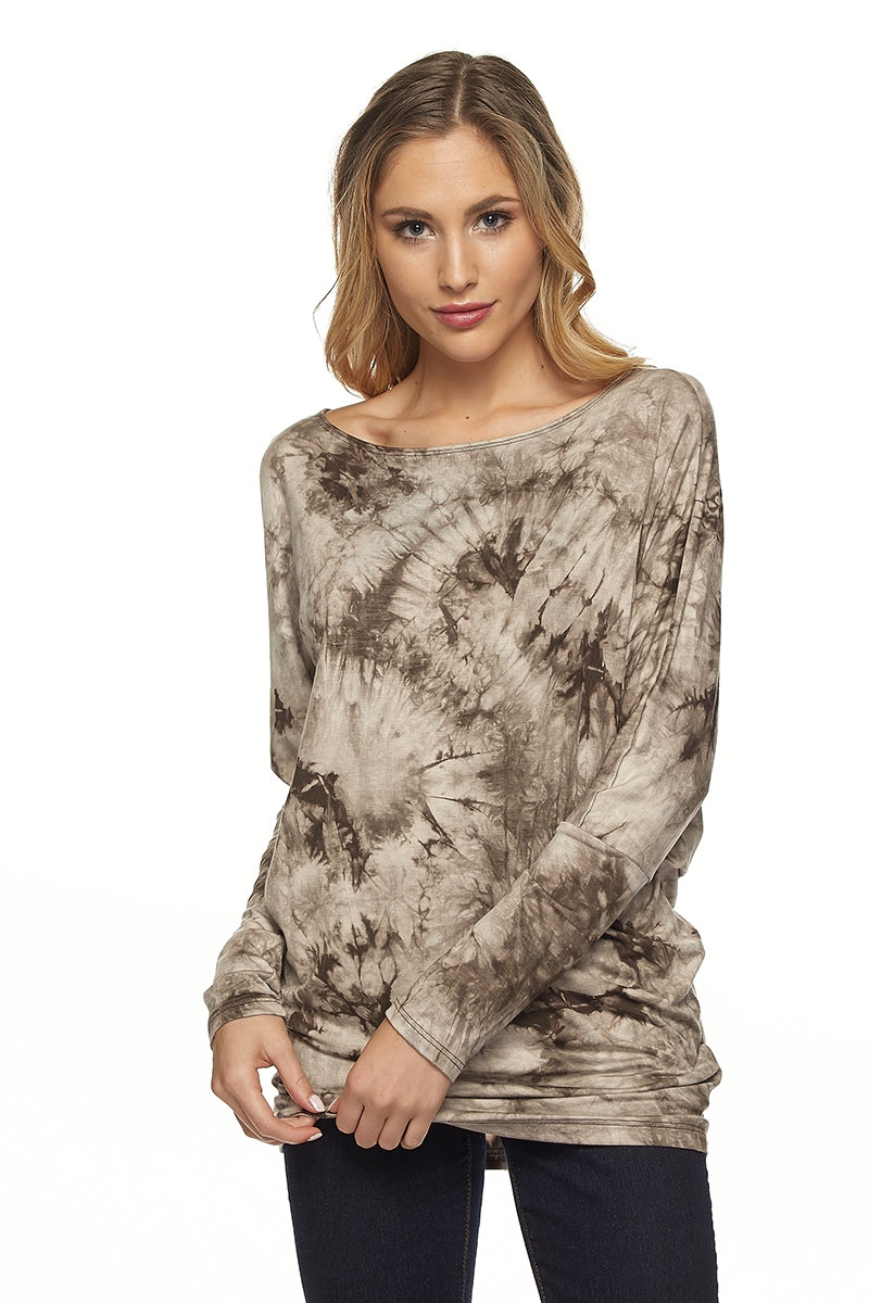 LONG SLEEVE TIE DYE TOP - orangeshine.com