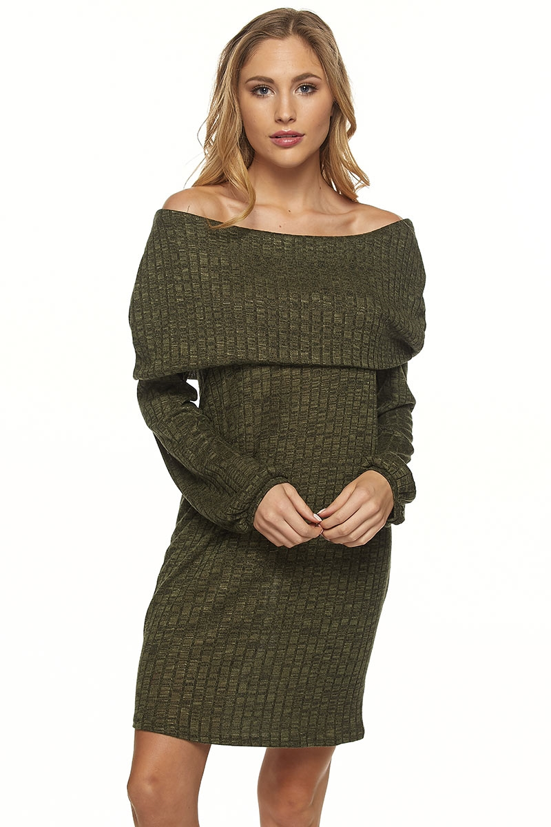 OFF SHOULDER RIB TUNIC - orangeshine.com
