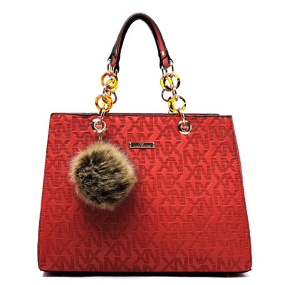NX Embossed Chain Handle Bag - orangeshine.com