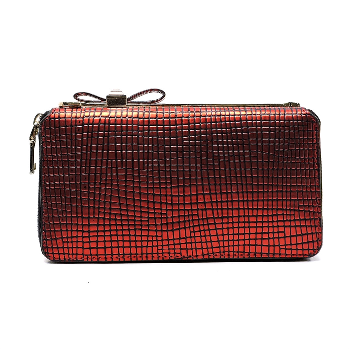 Bow Zip Around Wallet Wristlet - orangeshine.com
