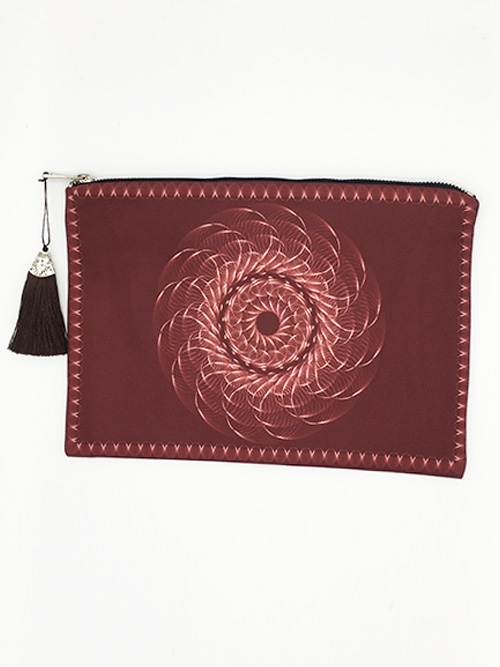 Burgundy Diamond Clutch - orangeshine.com