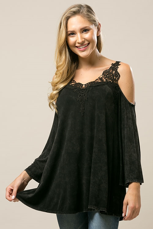 Lace Washed Dye Tunic - orangeshine.com