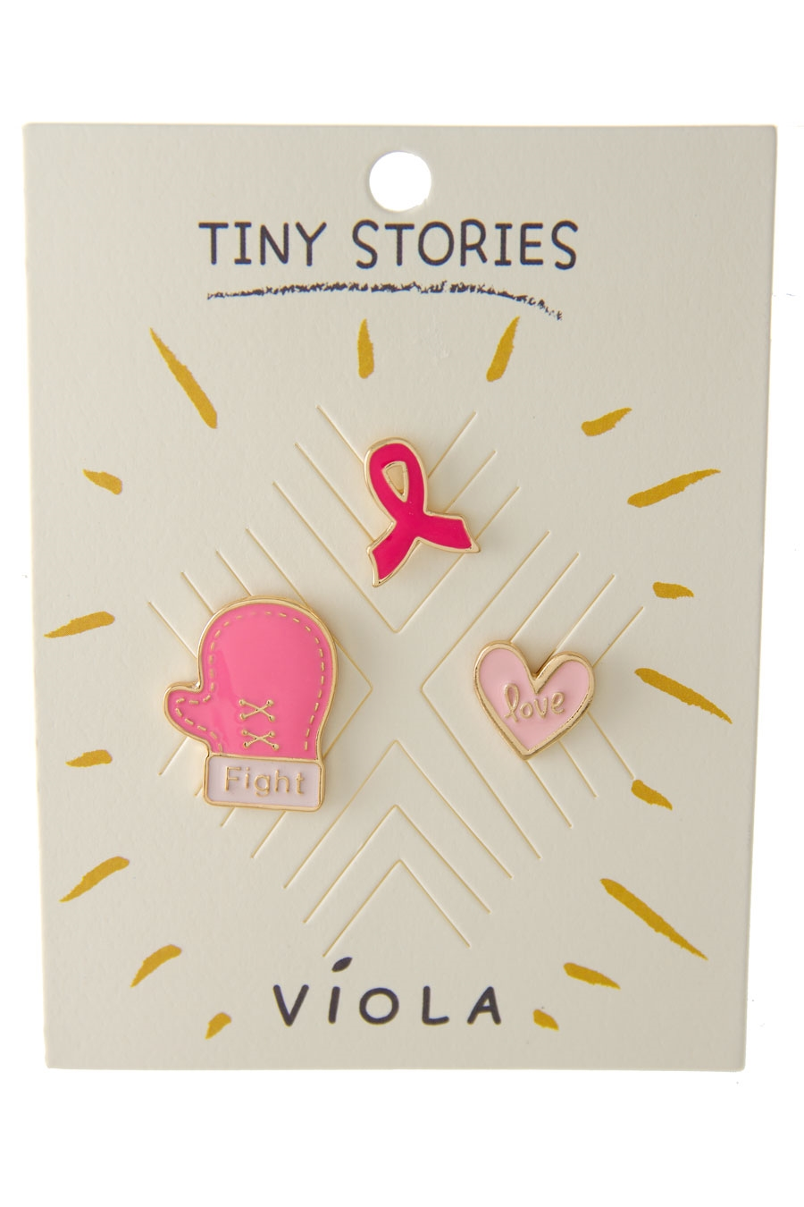 LOVE PINK RIBBON PIN SET - orangeshine.com
