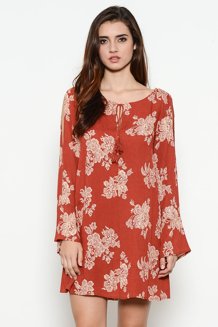 PRINT OPEN SHOULDER TUNIC - orangeshine.com