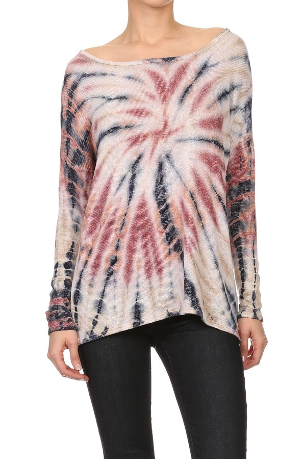 STARBURST TIE DYE LONG SLEEVE - orangeshine.com