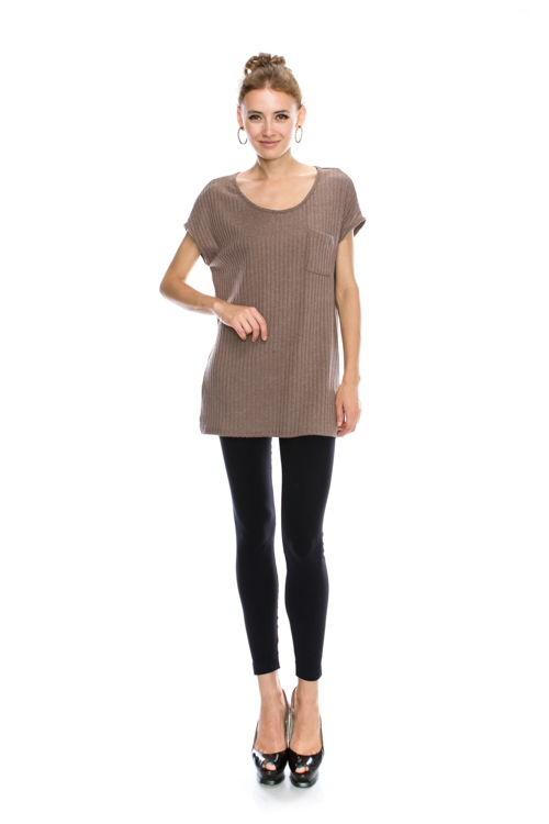 SCOOP NECK SOLID TUNIC - orangeshine.com