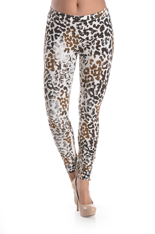 LEOPARD DYE LEGGINGS - orangeshine.com