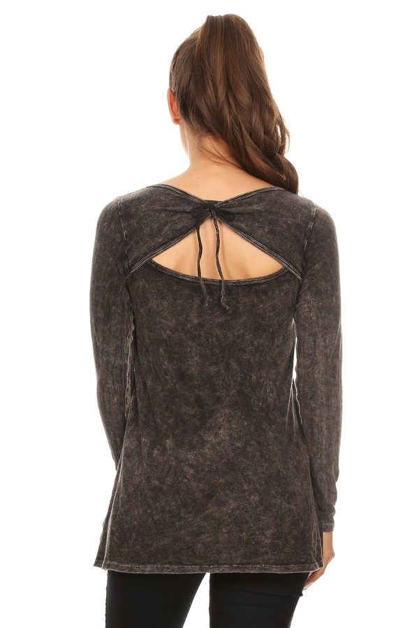 OPEN BACK LONG SLEEVE TOP - orangeshine.com