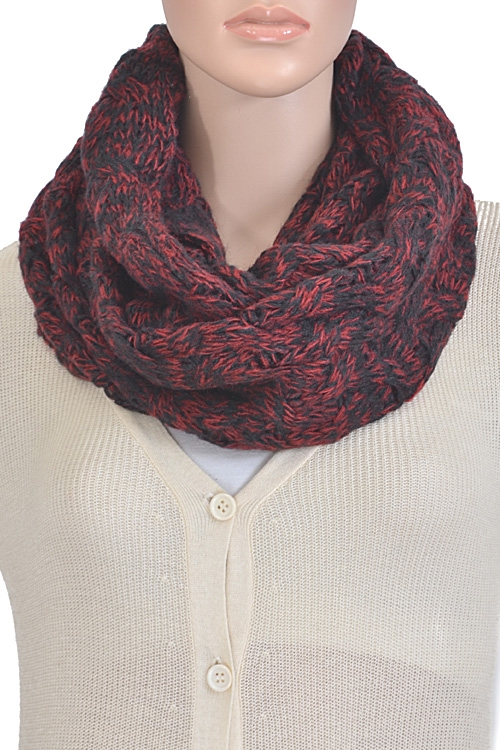 Mixed Colored Infinity Scarf - orangeshine.com