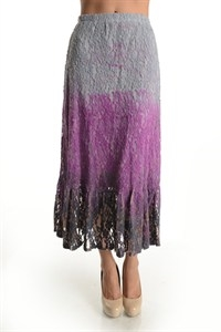 HORIZON DIP DYE LACE SKIRT - orangeshine.com