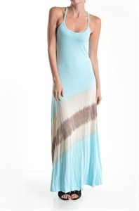 BRAIDED BACK MAXI DRESS - orangeshine.com