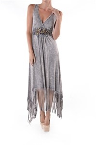 FRINGE FLORAL EMBROIDERY DRESS - orangeshine.com