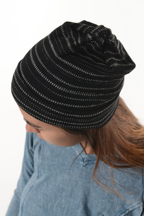 HORIZONTAL STRIPES BEANIE - orangeshine.com