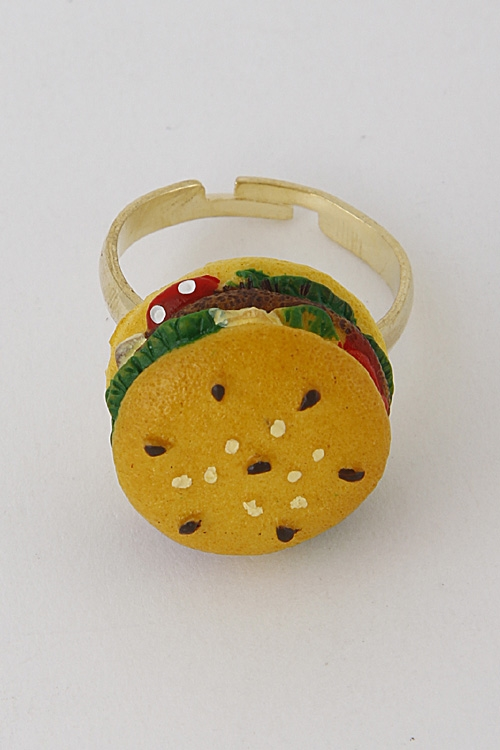 Hamburger Inspired Ring - orangeshine.com