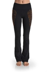 SPARKLE AND STUDDED YOGA PANTS - orangeshine.com