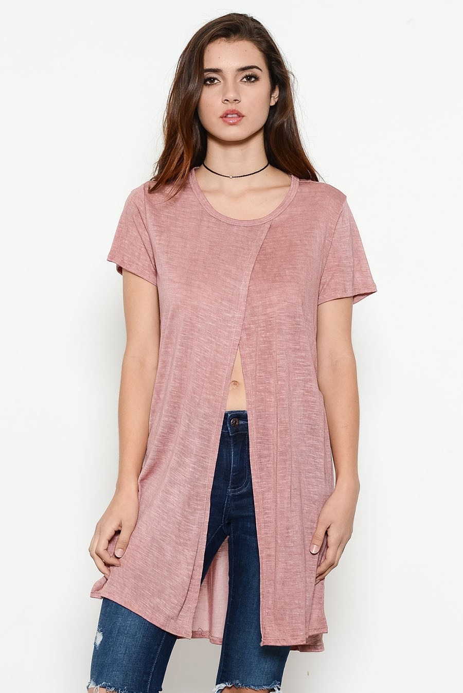 WASH LONGSLV SIDE SLIT TOP - orangeshine.com