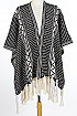 Intricate Patterned Poncho - orangeshine.com