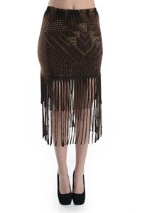BEJEWELED FRINGED MINI SKIRT - orangeshine.com