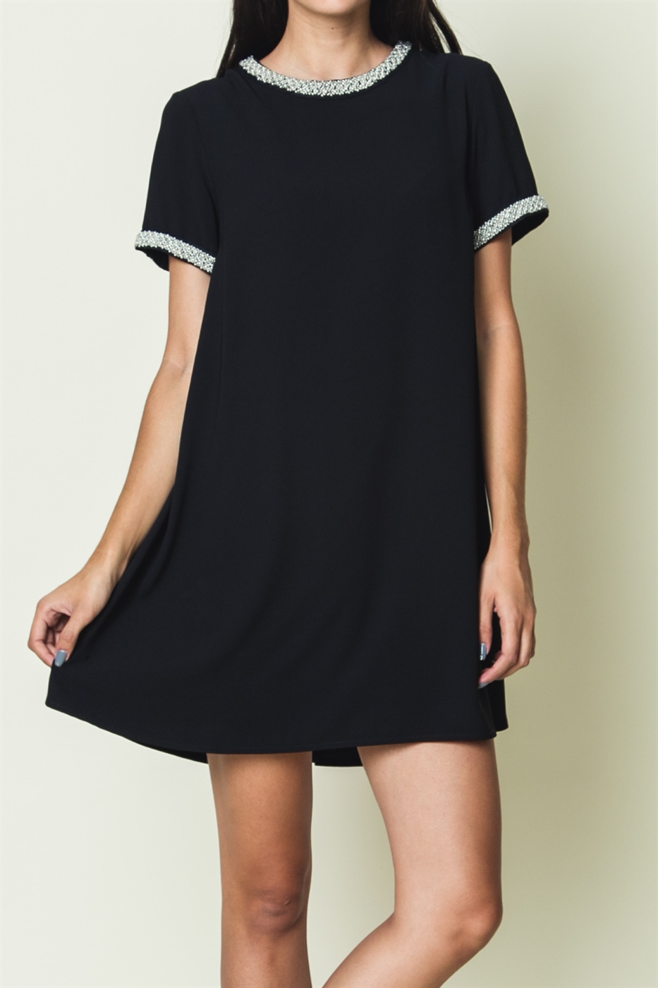 TRIM DETAILED DRESS - orangeshine.com