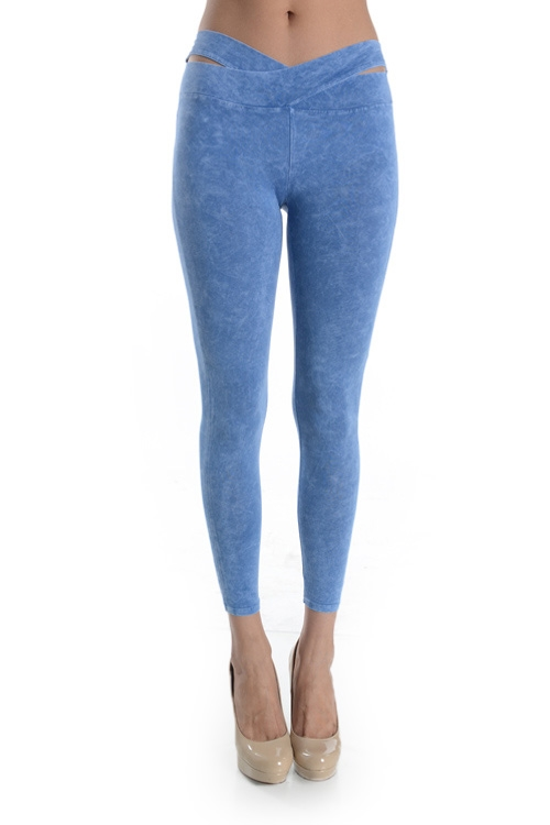 ACID WASH CROSSCOVER LEGGING - orangeshine.com
