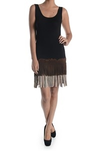 3 TONE DIP DYE FRINGED DRESS - orangeshine.com