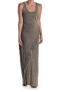 FRINGED MAXI DRESS - orangeshine.com