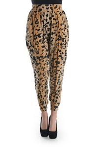 CHEETAH SLOUCHY PANTS - orangeshine.com