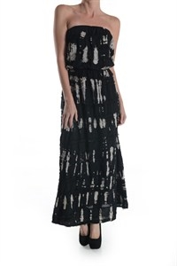 DISCHARGE DYE TUBE TOP DRESS - orangeshine.com