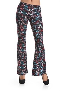 BUTTERFLY PRINT FLARE PANT - orangeshine.com
